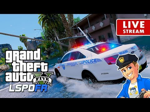 GTA 5 LIVE Miami City Police Hurricane Irma Aftermath And Recovery Efforts | GTA 5 LSPDFR Police Mod