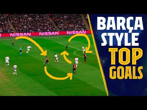 TOP GOALS: +20 passes AMAZING Barça style goals