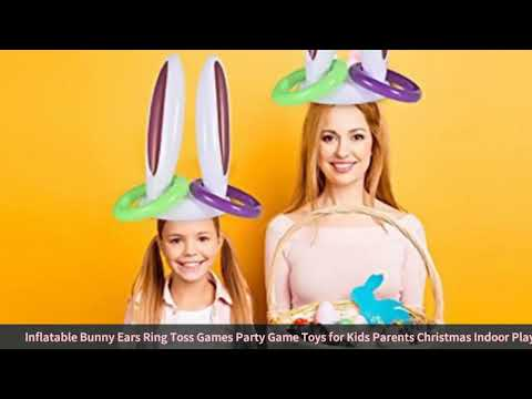 Inflatable Bunny Ears Ring Toss Games Party Game Toys For Kids Parents