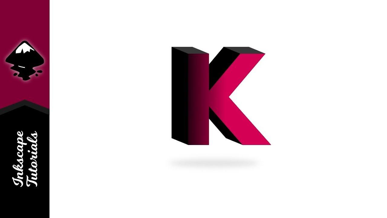Inkscape Tutorial: Create Letter K Vector 3d Text Effect (Episode #30) @  Ardent Designs