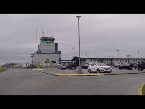Port Hardy Airport YZT - Driving Around Northern Vancouver Island BC Canada