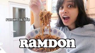 cooking RAMDON (jjapaguri) from parasite | clickfortaz
