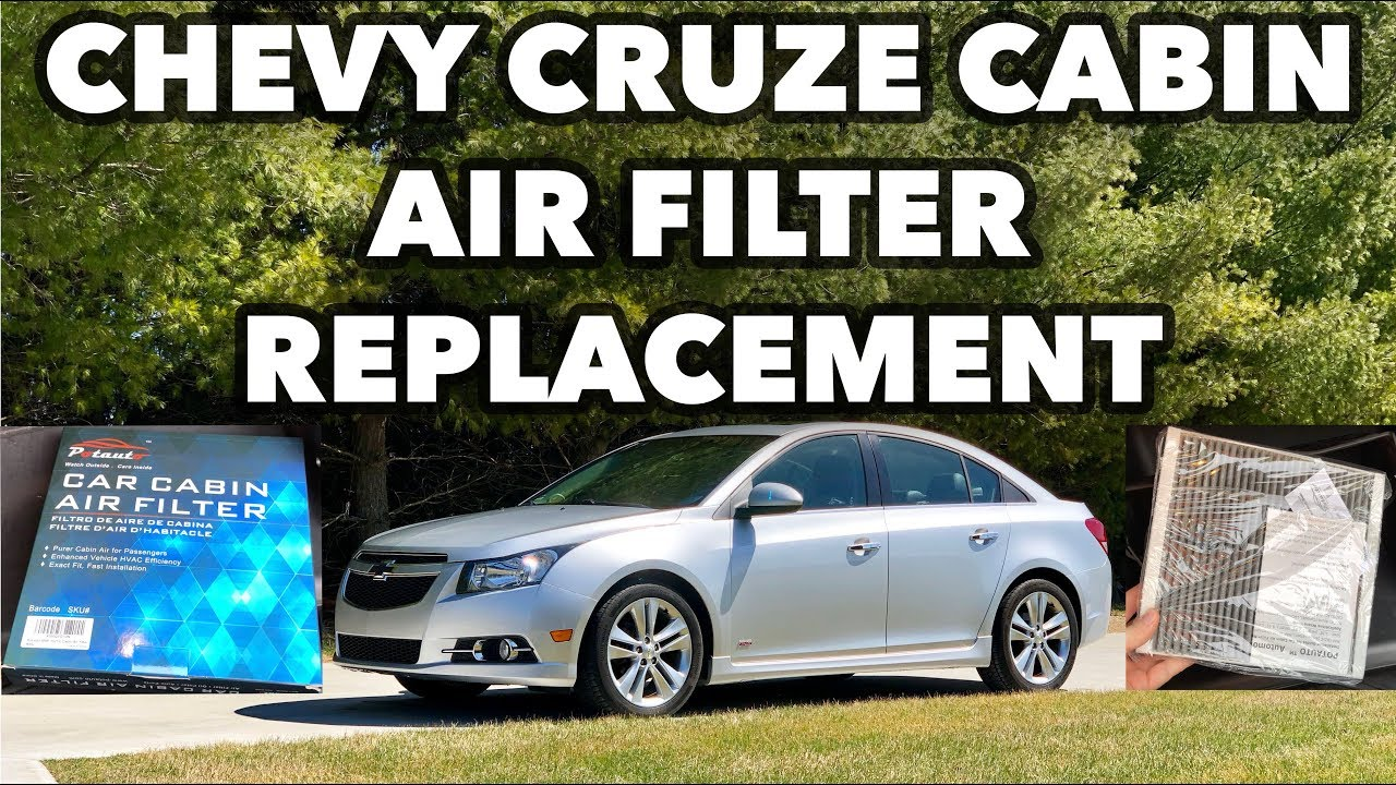 Chevy Cruze Cabin Air Filter Replacement 2011 2012 2013 2014 2015 Tutorial