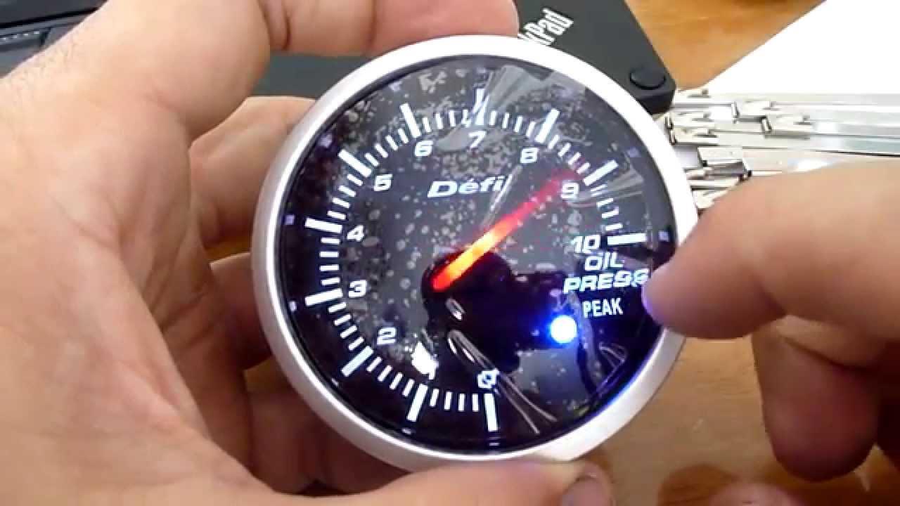 Defi Oil Pressure Gauge Wiring Diagram Real Boat For Tachometer Style Bf Youtube Rh Com Light Vdo