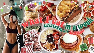 CHRISTMAS CHEAT WEEK!! (what I eat in a week) &amp spend Christmas with the Sun family