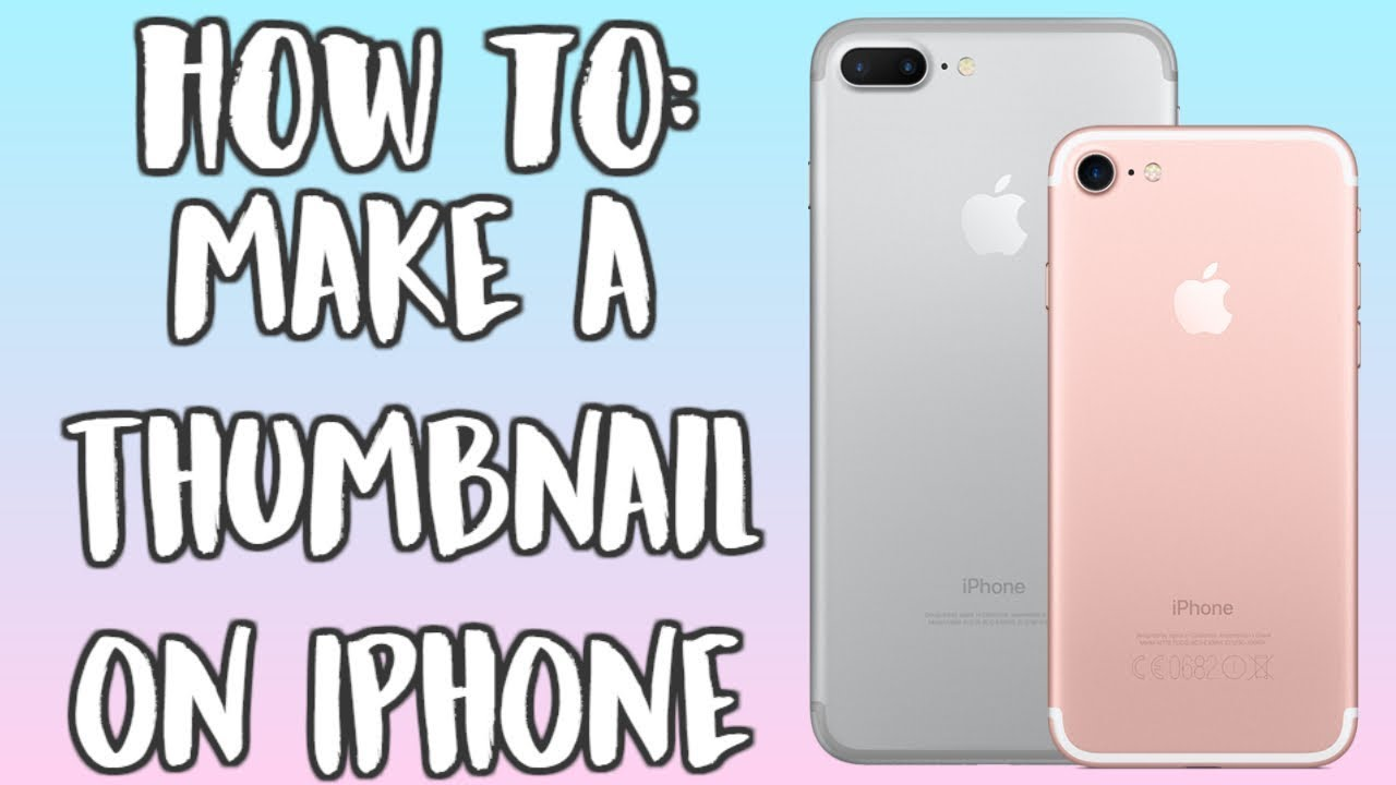 How to make a thumbnail on imovie iphone