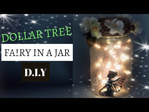 DOLLAR TREE FAIRY IN A JAR TUTORIAL D.I.Y