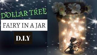 DOLLAR TREE FAIRY IN A JAR TUTORIAL D.I.Y