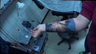 снимаем плёнку Suprasorb-F! После пяти дней заживления тату!