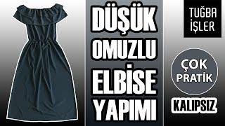 Video Düşük Omuzlu Elbise Yapımı - Omuzları Açık Fırfırlı Elbise Dikimi (KENDİN YAP) | Tuğba İşler download MP3, 3GP, MP4, WEBM, AVI, FLV Juli 2018