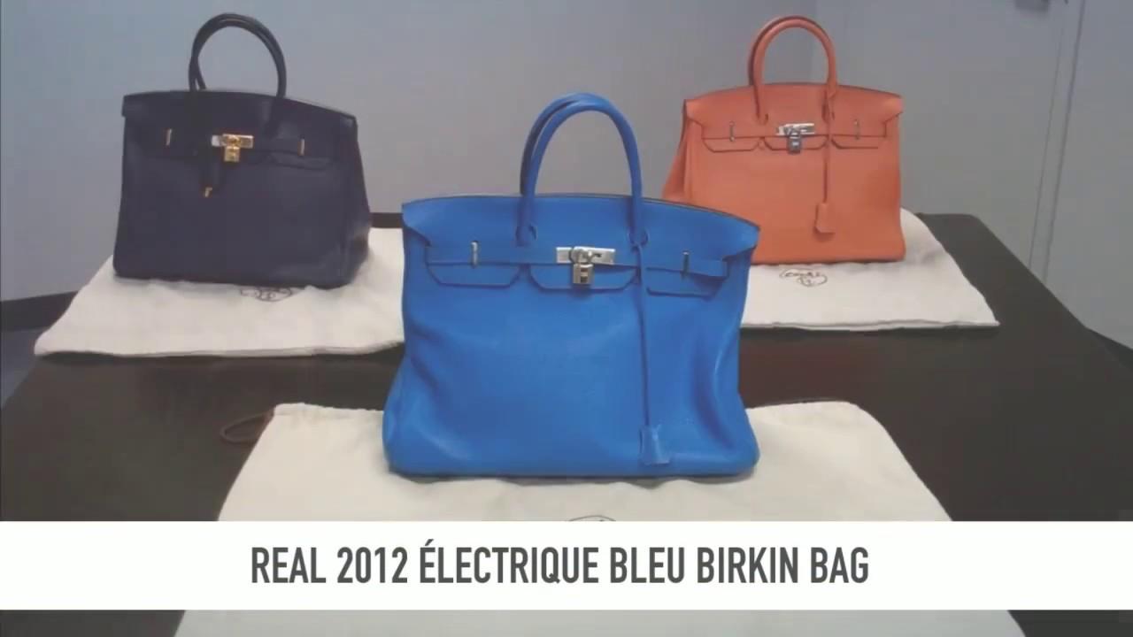ba18b543bb Tips For Spotting A Real vs Fake Birkin Bag - YouTube