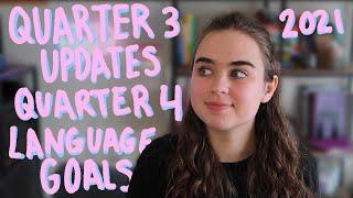 2021 Language Goals: Quaŗter 3 Update + Quarter 4 Plans!