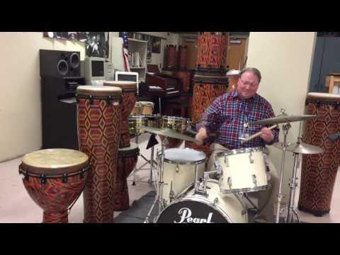 Music and arts drum teacher John Gronert