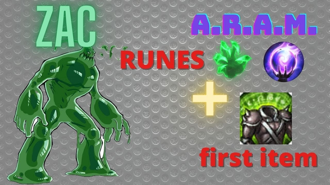 Zac League Of Legends Zac Aram Best Play Zac Gameplay Build And Guide Zac Really Op Champion Comebac Youtube Through standard matchmaking, players are not given the ability to choose their champion ( all random) and fight on the howling abyss' single lane. youtube