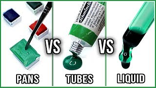 What Is The Difference Between Watercolors In PANS, TUBES & LIQUID Watercolors