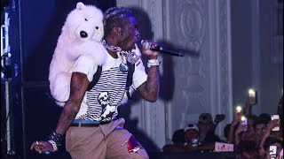 LIL UZI VERT Performs With A Polar Bear On His Back