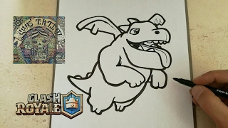 COMO DIBUJAR A BABY DRAGON - CLASH ROYALE