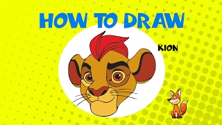 How to draw Kion from Lion Guard - STEP BY STEP - DRAWING TUTORIAL