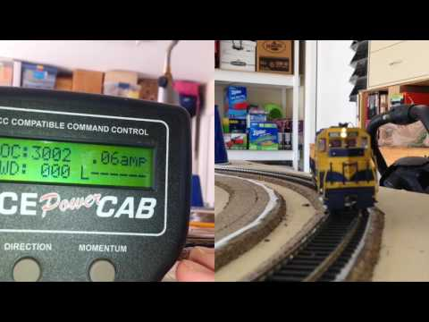NCE Part 2, How to show track current for the NCE system