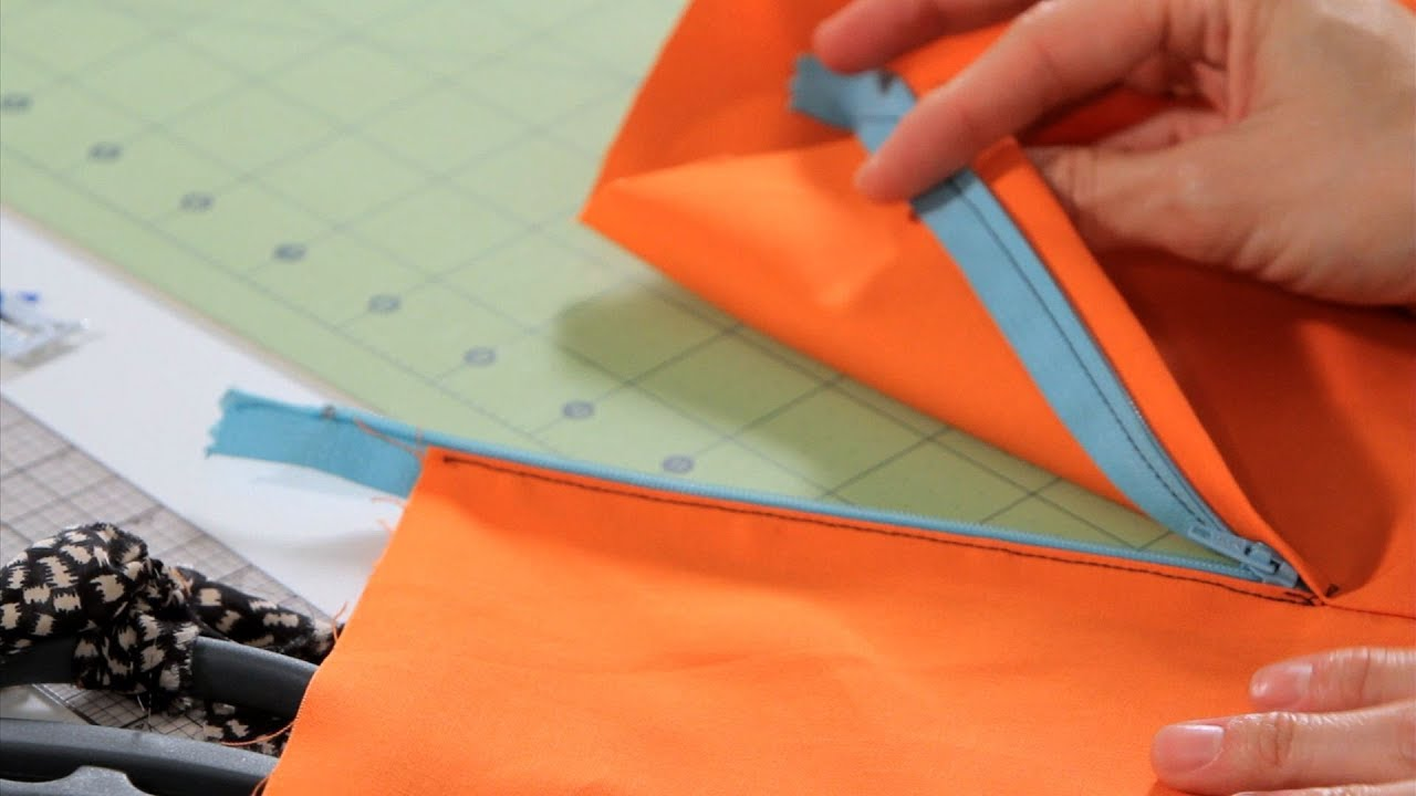 How to Sew a Lapped Zipper  Sewing Machine  YouTube