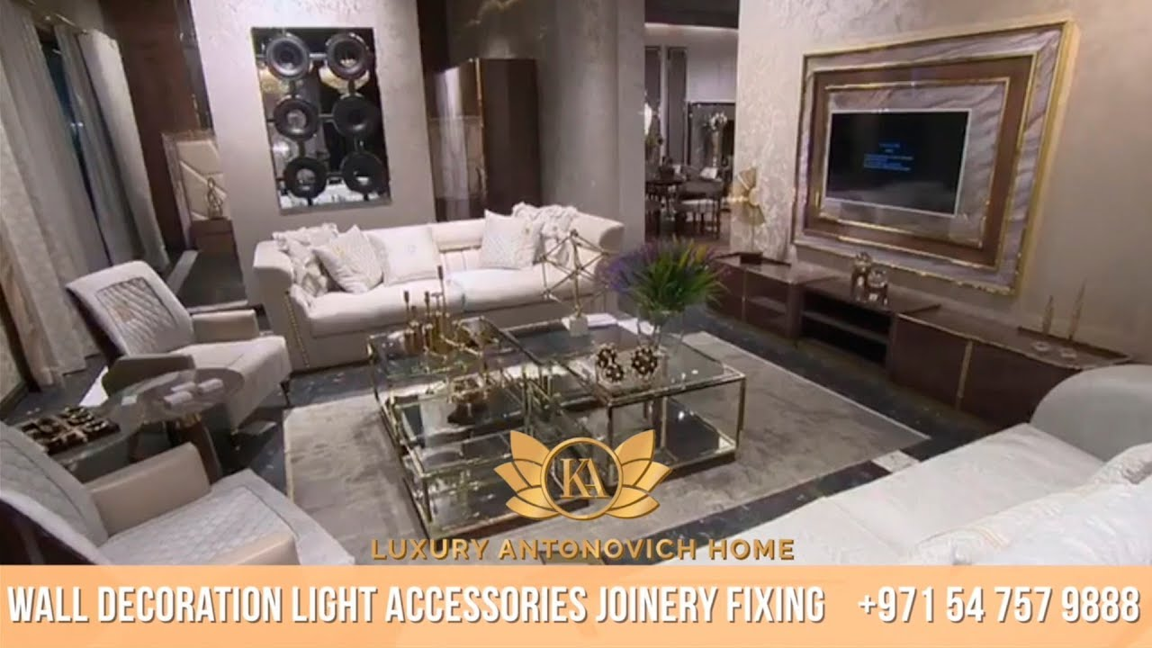 Timeless Elegance of New Furniture Collection, Luxury Antonovich Home Showroom in Dubai!