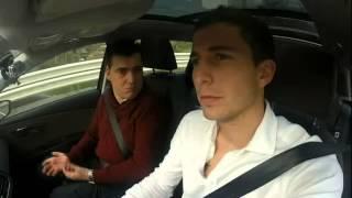 Oscar de Marcos en un Seat de Automóviles Galindo