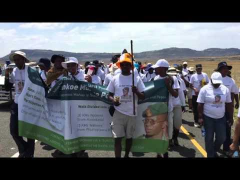 General Maaparankoe Mahao peace-walk,