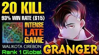 20 Kills Granger 93% Win Rate (S15) Intense Game! - Top 1 Global Granger WALIKOTA CIREBON  - MLBB