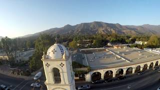Drone US Post Office in Ojai