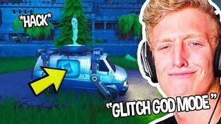 Tf 'e FINDS 'NEW' RESPAWN BUS 'IN GAME' GLITCHED ' USES IT 'WOW' Moments drôles Fortnite