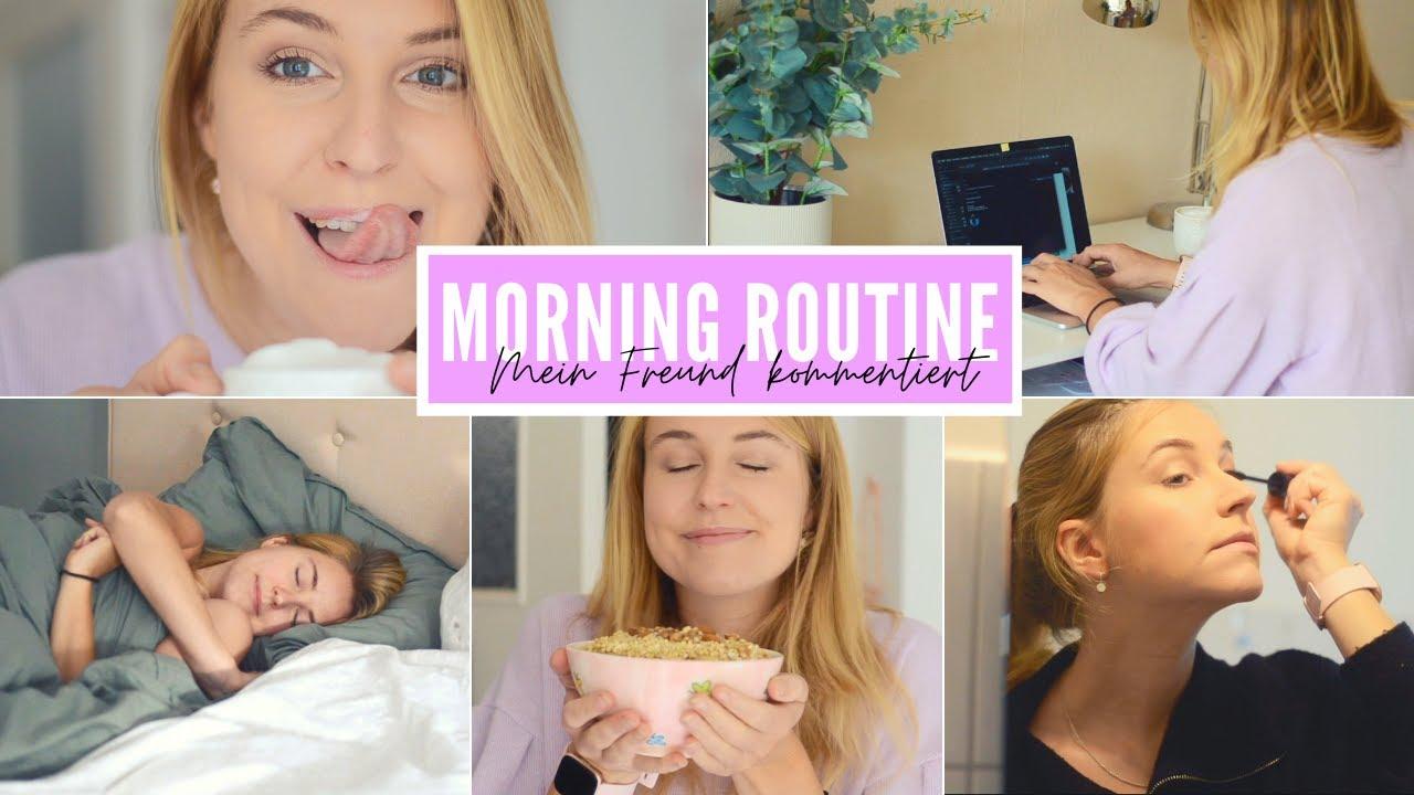 MEIN FREUND KOMMENTIERT meine MORNING ROUTINE | Charlotte K.