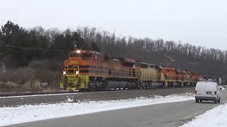 P&W SD70M-2 4301 Pulling Into Butler on RIBT