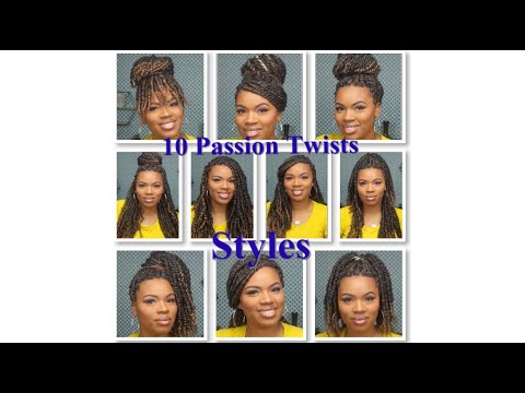 How To: 10 Quick, Easy & Cute Passion Twists Hairstyles | SimplyShon