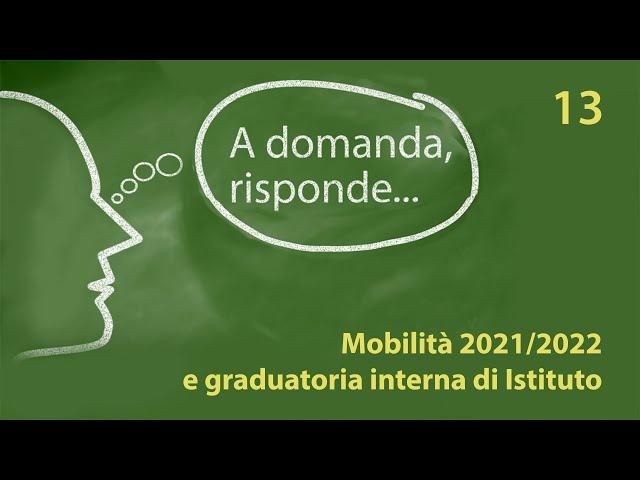 Mobilità 2021/22 e graduatoria interna di Istituto: domande e risposte