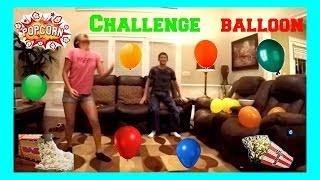 Popcorn and Balloon Pop Challenge!!