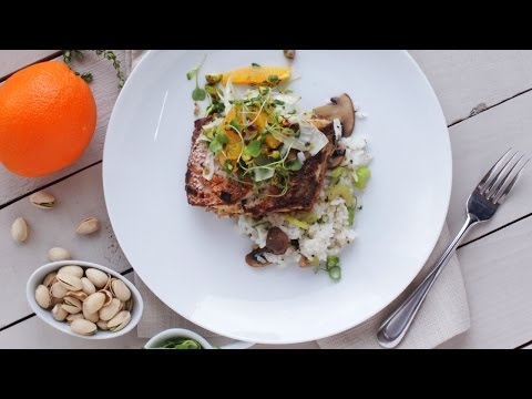 Whole Red Snapper with Rice and Orange Salad