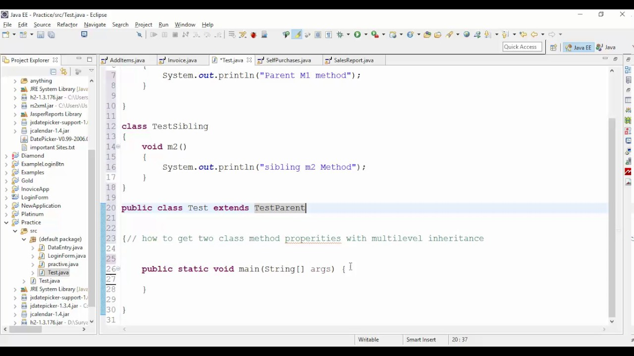 Multilevel inheritance in c# with example
