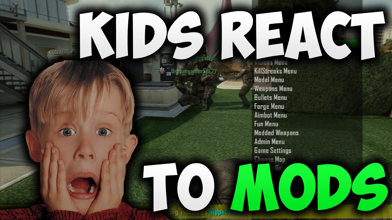 Black ops 2 kids react to mods funny reactions youtube