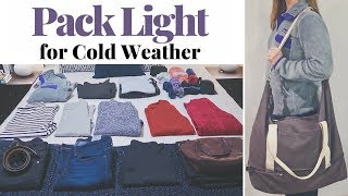 PACK WITH ME | How to Pack Light for Cold Weather | Kathryn Mary