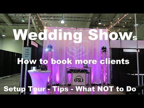 DJ Vlog / Tips | How To Do A Wedding (Bridal) Show | Book More Clients | Setup Tour