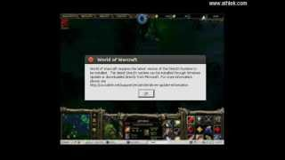 How to solve DirectX problem when playing Warcraft