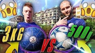 Palla DA 3Kg VS Palla DA 500g - Soccer Ball Test