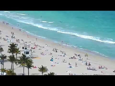 Living In Fort Lauderdale : NEW! Fort Lauderdale BEACH CAM - YouTube