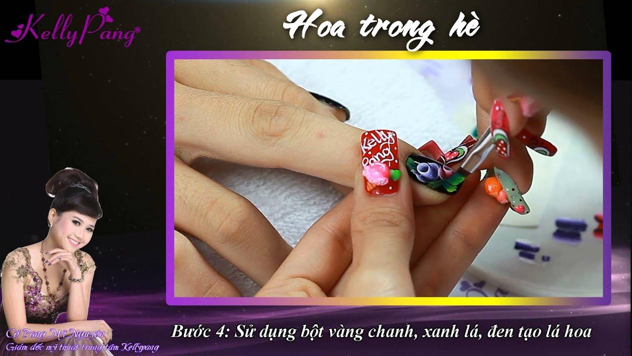 Phim Dạy Vẽ Móng - Hoa Trong Hè - Kelly Pang - YouTube