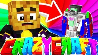 BECOMING A TRANSFORMER?! w/ Tewtiy, AlexACE, and FrizzleNPop - MINECRAFT CRAZY CRAFT SURVIVAL #4