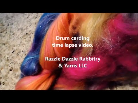 Time lapse drum carding video.