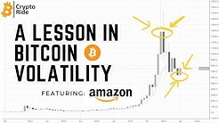Bitcoin price volatility compared to Amazon price chart over time