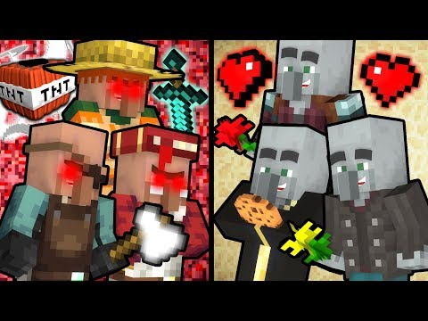 If Villagers were Evil and Illagers were Good - Minecraft