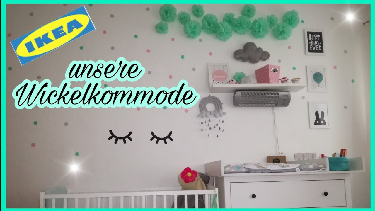 Unsere Wickelkommode Ikea Hemnes Girls Edition Youtube