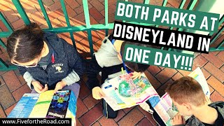 Disneyland and California Adventure in 1 Day | How to Park Hop at Disneyland | Family Travel Vlog 23